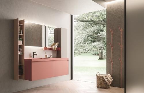 Calix XL by Novello: sfumature corallo per un bagno seducente e rigenerante