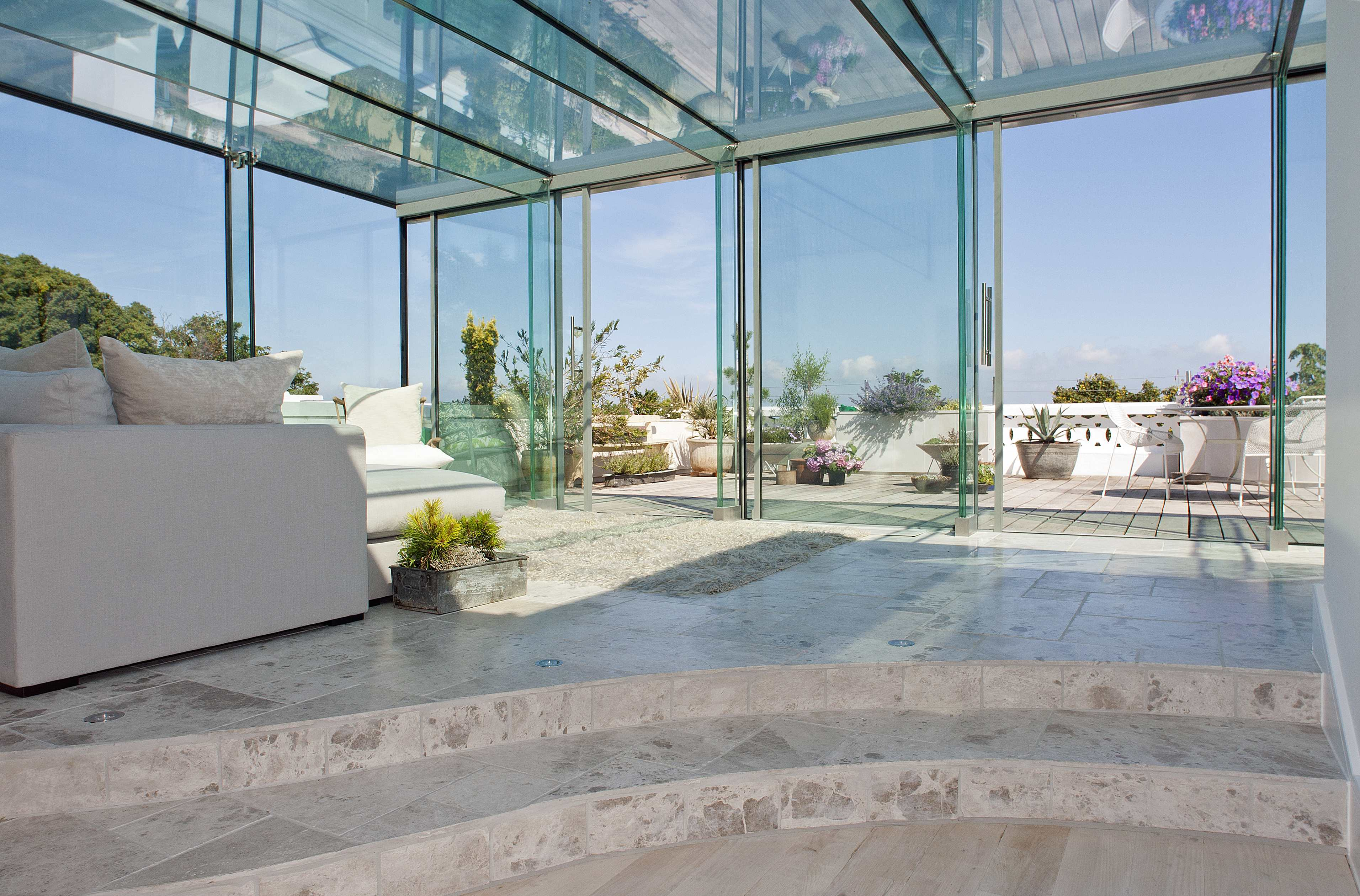 Structural glass extension for Structural interior design